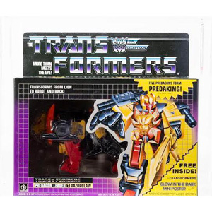 Lot #75: 1986 TRANSFORMERS Razorclaw (no flap crease)